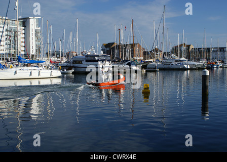Sovereign Harbour and Marina in Eastbourne, East Sussex, England - Stock Photo
