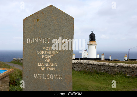 dunnet head most northerly point of mainland britain scotland uk - Stock Photo