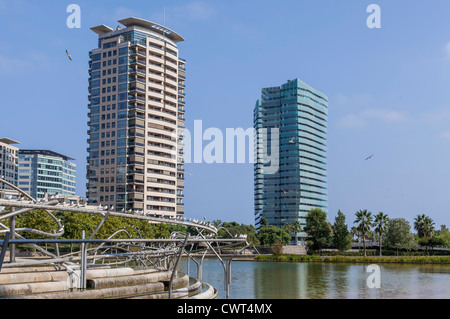 Buildings in the area diagonal mar,Barcelona - Stock Photo