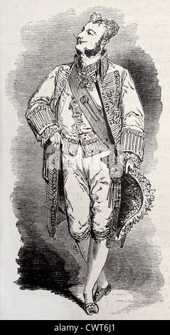 Parisienne male Grand Ball costume - Stock Photo