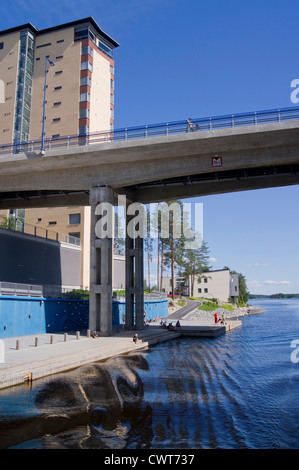 New Flats at the shore of  lake Kallavesi in Kuopio - Stock Photo