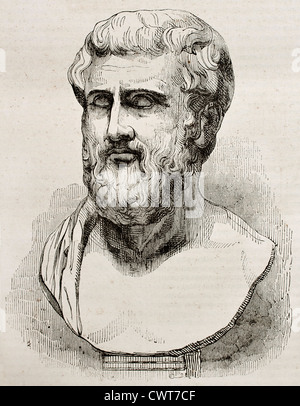 Sophocles bust - Stock Photo