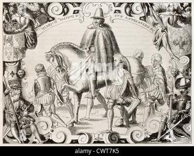 Henri III of France in Polish costume - Stock Photo