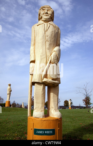 Canada. New Brunswick. City of Saint John. W. Franklin Hatheway Labour Exhibit Center. Monument to all workers killed, - Stock Photo