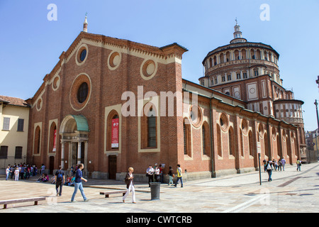 Italy, Lombardy, Milan, S. Maria delle Grazie church - Stock Photo