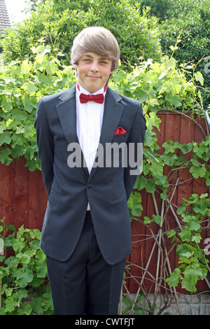 teenager in prom suit - Stock Photo