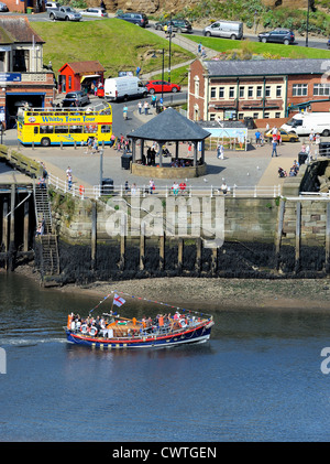 Mary Ann Hepworth Whitby's Old Lifeboat pleasure cruise day trip leaving whitby north yorkshire england uk - Stock Photo