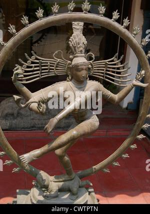 Nataraja Sculpture of God Shiva in the form of Divine Dancing.Sculptures from Mahabalipuram ,Tamil nadu , India - Stock Photo