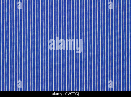 Blue and White Stripes textured fabric background - Stock Photo