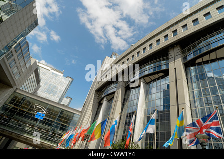 European Parliament Building,Brussels,Europe - Stock Photo