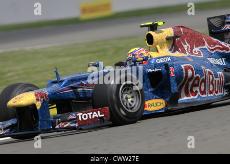 Mark Webber (Red Bull Racing) British Grand Prix, Silverstone UK. Formula One, F1 - Stock Photo