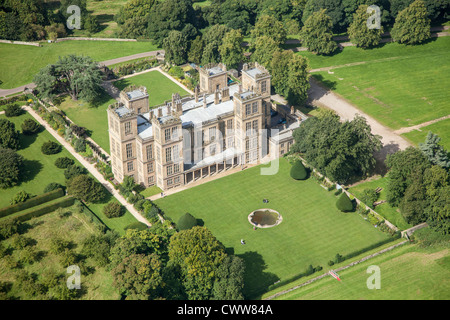 Hardwick Hall, Derbyshire, a National Trust property, and former home of Bess of Hardwick - Stock Photo
