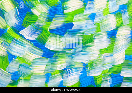 Broad brush strokes form a background of a multi colored wave. - Stock Photo
