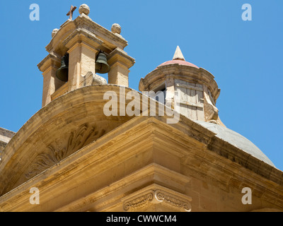Maltese architecture seen on the streets of the Island of Malta, Mediterranean Sea - Stock Photo
