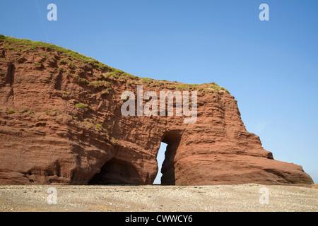 Langstone Rock Dawlish Devon England UK - Stock Photo