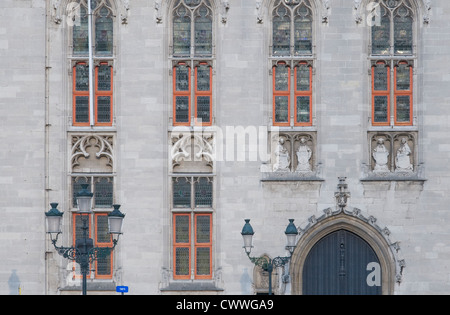 Architectural detail of the Provinciaal Hof in Bruges Begium - Stock Photo