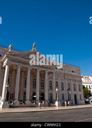 Dona Maria National Theater Lisbon - Stock Photo