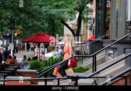 Newbury Street, Boston, Massachusetts - Stock Photo