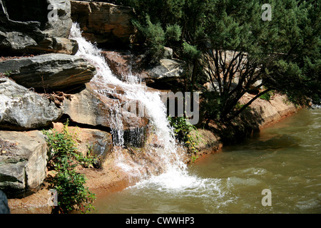 waterfall mountain stream river picture of waterfalls - Stock Photo