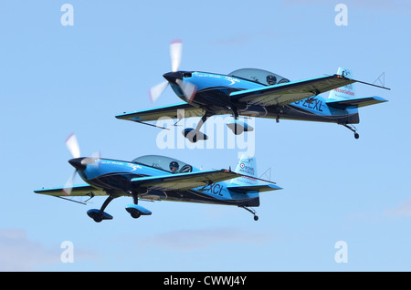 The Blades Aerobatic Display Team, Royal Air Forces Association, taking off at Farnborough International Airshow - Stock Photo