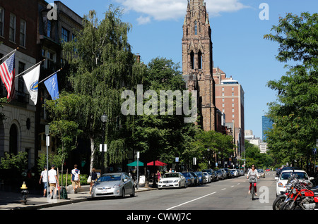Newbury Street looking towards Boston Common, Boston, Massachusetts - Stock Photo