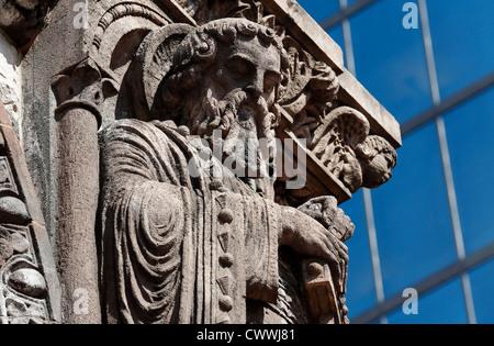 Frieze on Trinity Church in Boston, Massachusetts - Stock Photo