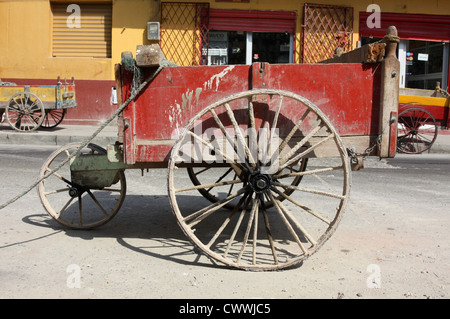 Old public service street cart The UNESCO[World Heritage Site]of Cartagena, Colombia South America - Stock Photo