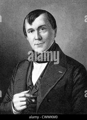 Emile de Girardin (1802-1881) on engraving from 1859. French journalist, publicist and politician. - Stock Photo