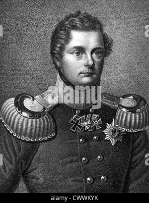 Frederick William IV of Prussia (1795-1861) on engraving from 1859. King of Prussia during 1840-1861. - Stock Photo