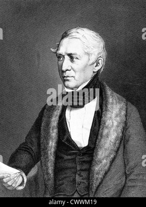 Friedrich Ludwig Georg von Raumer (1781-1873) on engraving from 1859. German historian. - Stock Photo