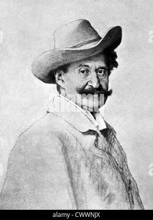 Johann Strauss II (1825-1899) on antique print from 1899. Austrian composer. - Stock Photo