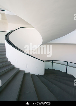 spiral staircase in Neues Museum or New Museum of modern art  in Nuremberg Germany - Stock Photo