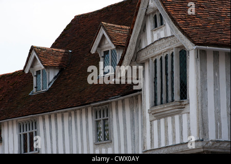 Lavenham, a pretty rural town with many timber framed houses, in Suffolk, England,UK. - Stock Photo