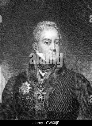 William IV of the United Kingdom (1765-1837) on engraving from 1859. King of Great Britain and Ireland and of Hanover - Stock Photo
