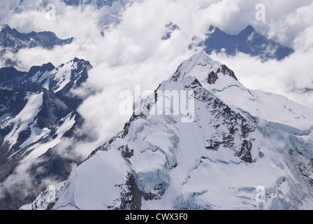 Aerial view from the Huayna Potosi - Stock Photo