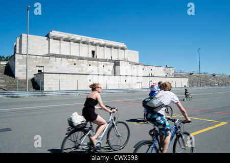 The former Nazi party rally grounds at Zeppelinfeld in Nuremberg in Bavaria Germany - Stock Photo