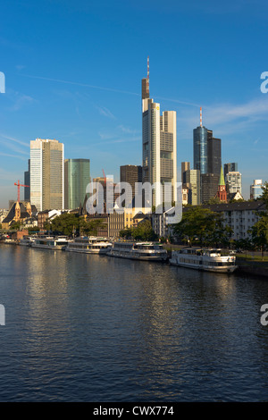 Frankfurt Skyline Frankfurt am Main, Germany, Europe - Stock Photo