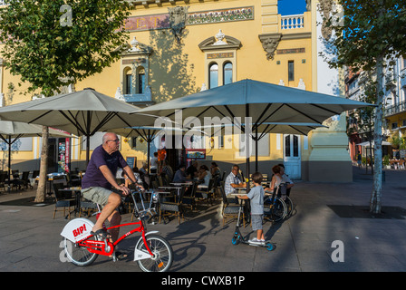 Perpignan france street scenes people talking on town square stock photo royalty free image - Boutique free perpignan ...