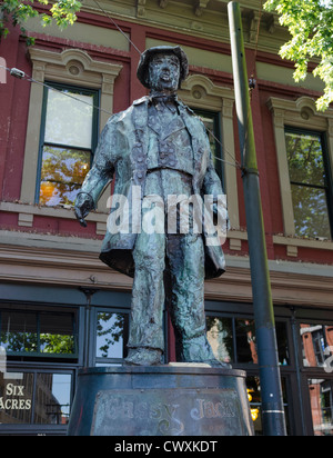 Statue of Gassy Jack in Gastown, Vancouver, Canada - Stock Photo