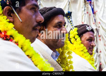 High cast Rajputs at the Nagar Festival, Himachal Pradesh, Northern India - Stock Photo