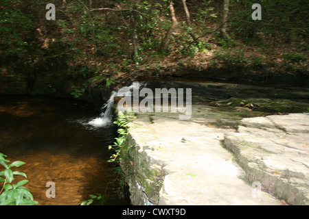 waterfall stream creek picture landscape - Stock Photo