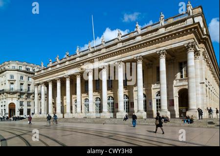 The Opera, Place De La Comedie, Bordeaux, Gironde,Aquitaine, France - Stock Photo