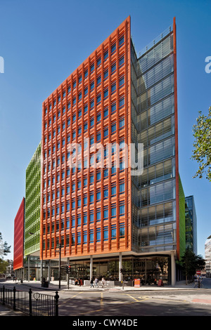 Central Saint Giles is a mixed-use development in central London designed by the Italian architect Renzo Piano - Stock Photo