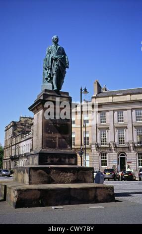 Statue of Robert Dundas, 2nd Viscount Melville, Melville Street, New Town, Edinburgh, Scotland,  UK - Stock Photo