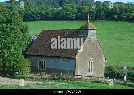 Church of St. Mary The Virgin Upwaltham. From the North. - Stock Photo