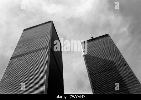 World Trade Center, circa 1988 - Stock Photo