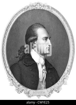 Johann Wolfgang von Goethe, 1749 - 1832, a German poet - Stock Photo