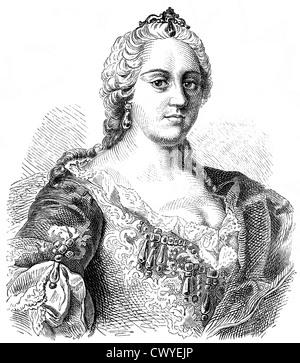 Maria Theresa of Austria, 1717 - 1780, Archduchess of Austria and Queen of Hungary, Croatia and Bohemia, - Stock Photo