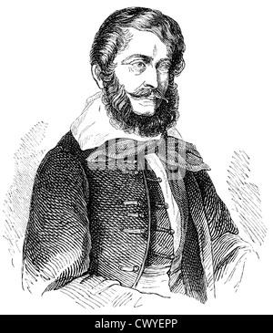 Lajos Kossuth de Kossuth et Udvard or Louis Kossuth, 1802 - 1894, a lawyer, politician and leader of the Hungarian - Stock Photo