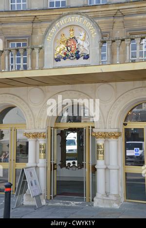 Entrance to box office, New Theatre Royal, Sawclose, Bath, Somerset, England, United Kingdom - Stock Photo